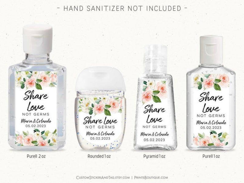Personalized Pocket Sized Hand Sanitizers